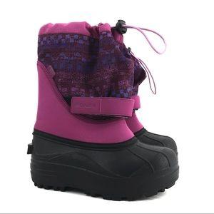 Columbia Girls Powderbug Plus II Snow Boots Sz 2